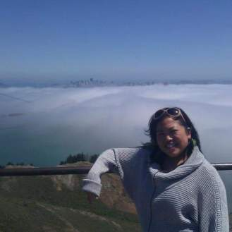 Walking on clouds, an amazing view of the Golden Gate Bridge in San Francisco.