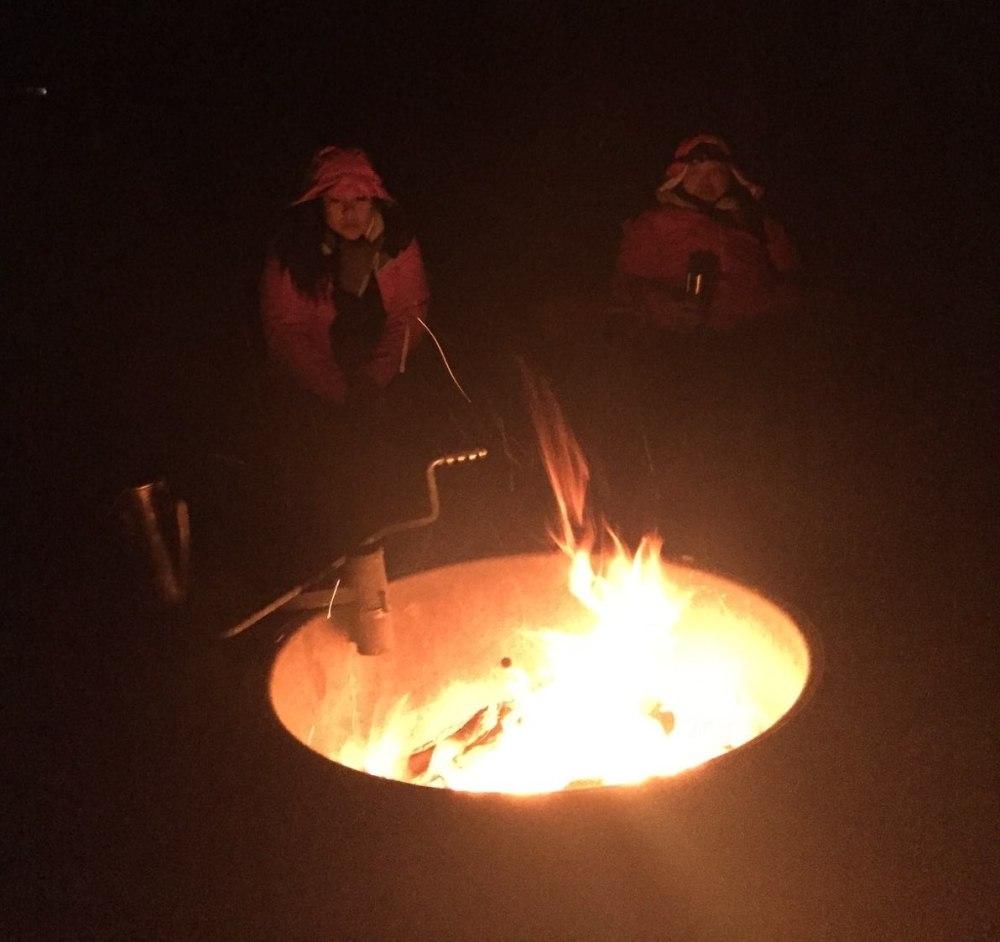 Me Chan Sedona campfire